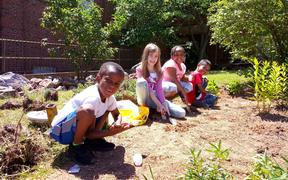 Elementary Students Participate in Green Schoolyard Project