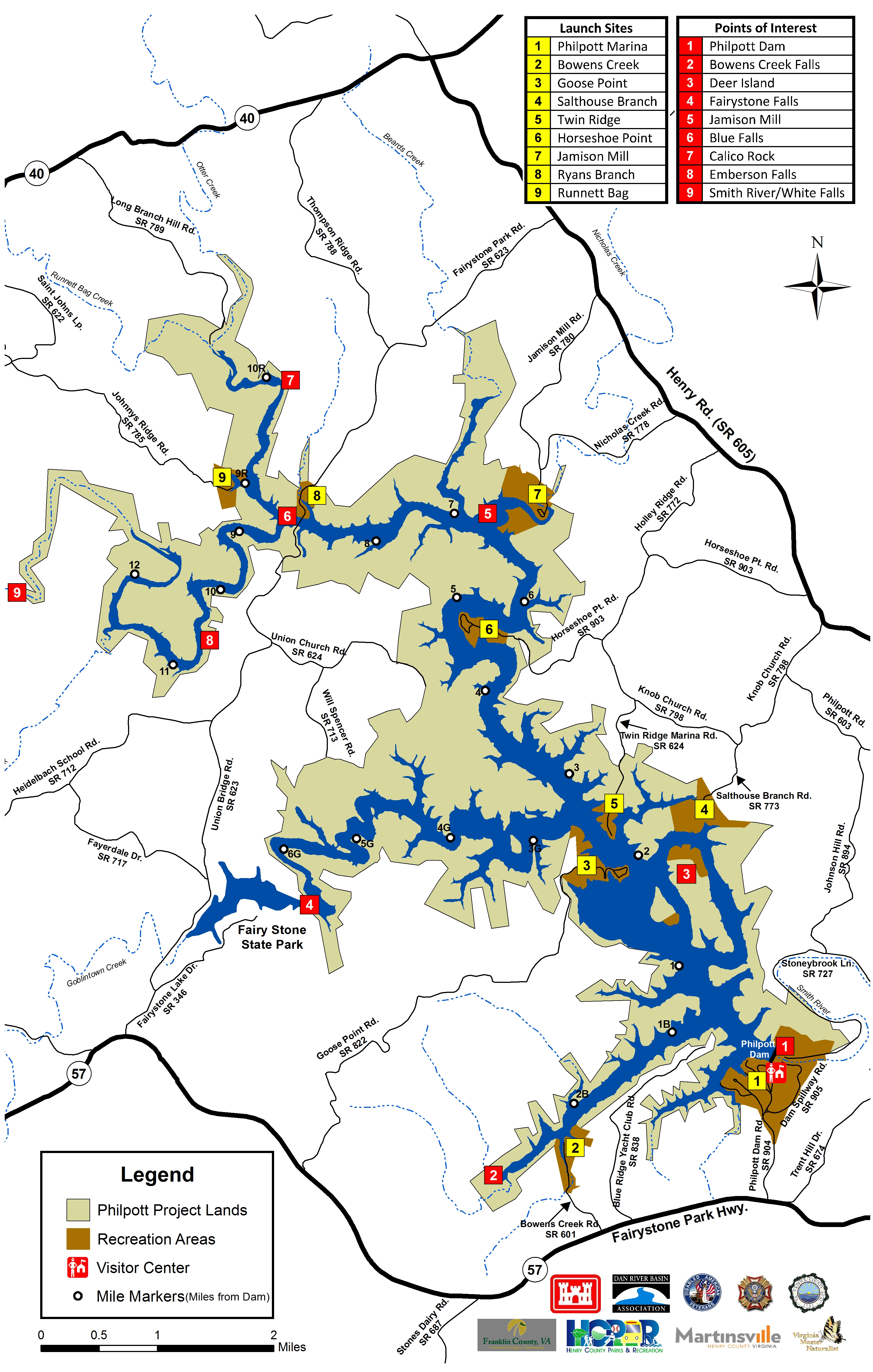 Philpott Blueway Map